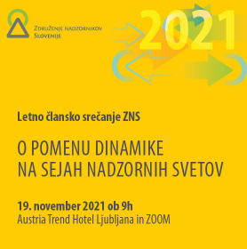 Letno člansko srečanje 2021: O pomenu dinamike na sejah nadzornih svetov