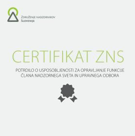 Izpit za pridobitev Certifikata ZNS